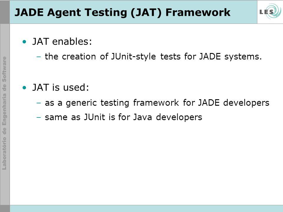 JADE Agent Testing (JAT) Framework