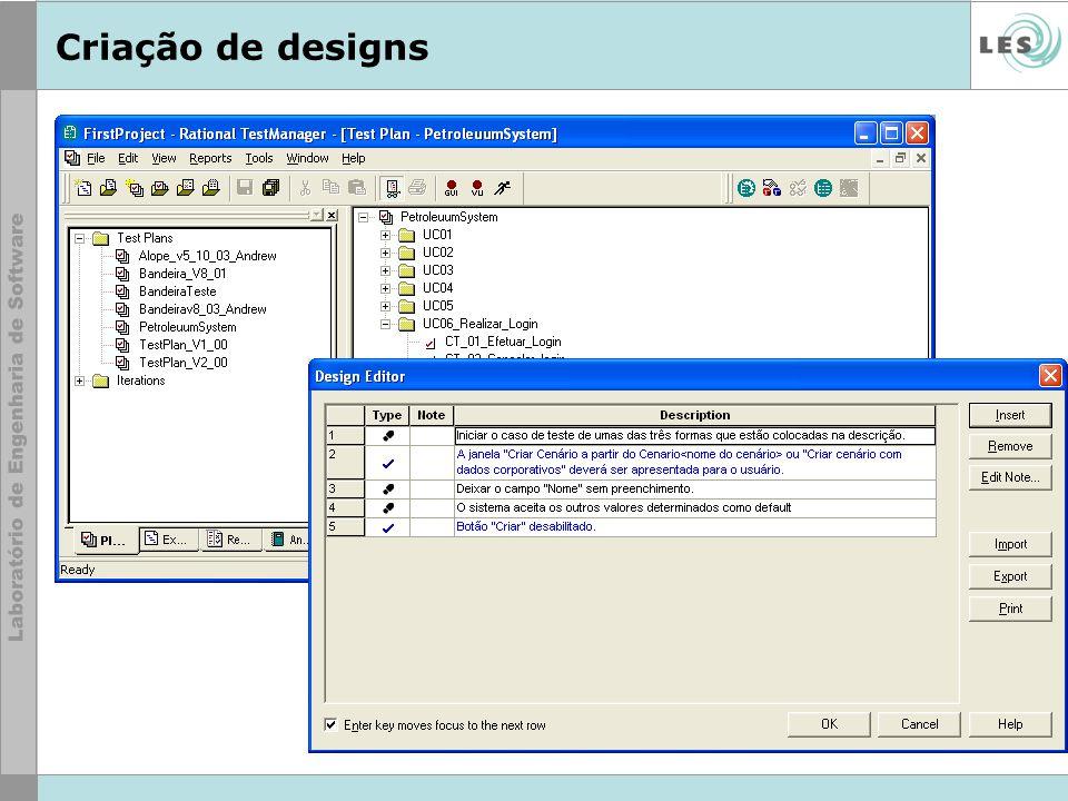 Criação de designs