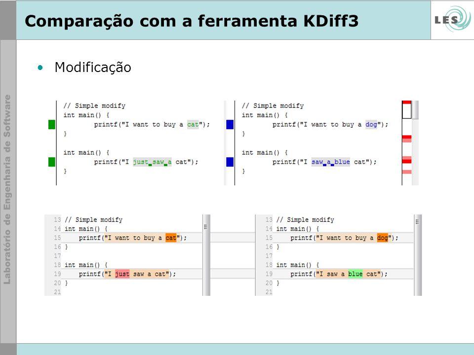 Comparação com a ferramenta KDiff3