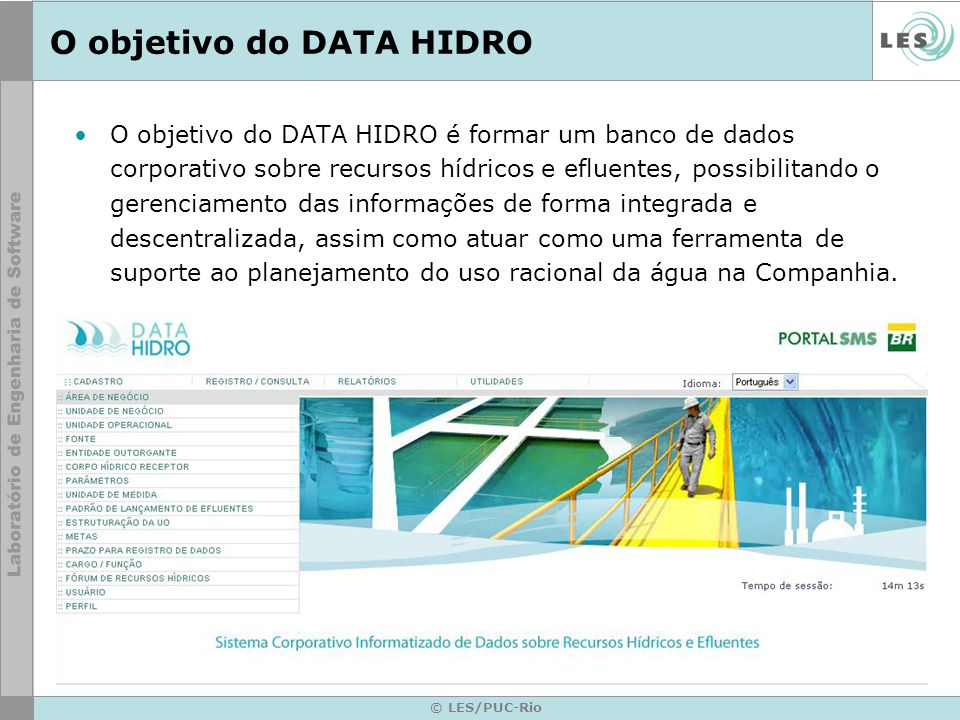 O objetivo do DATA HIDRO