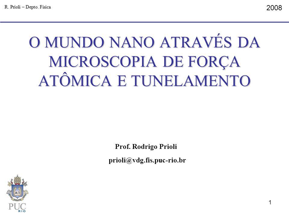 O MUNDO NANO ATRAVÉS DA MICROSCOPIA DE FORÇA ATÔMICA E TUNELAMENTO