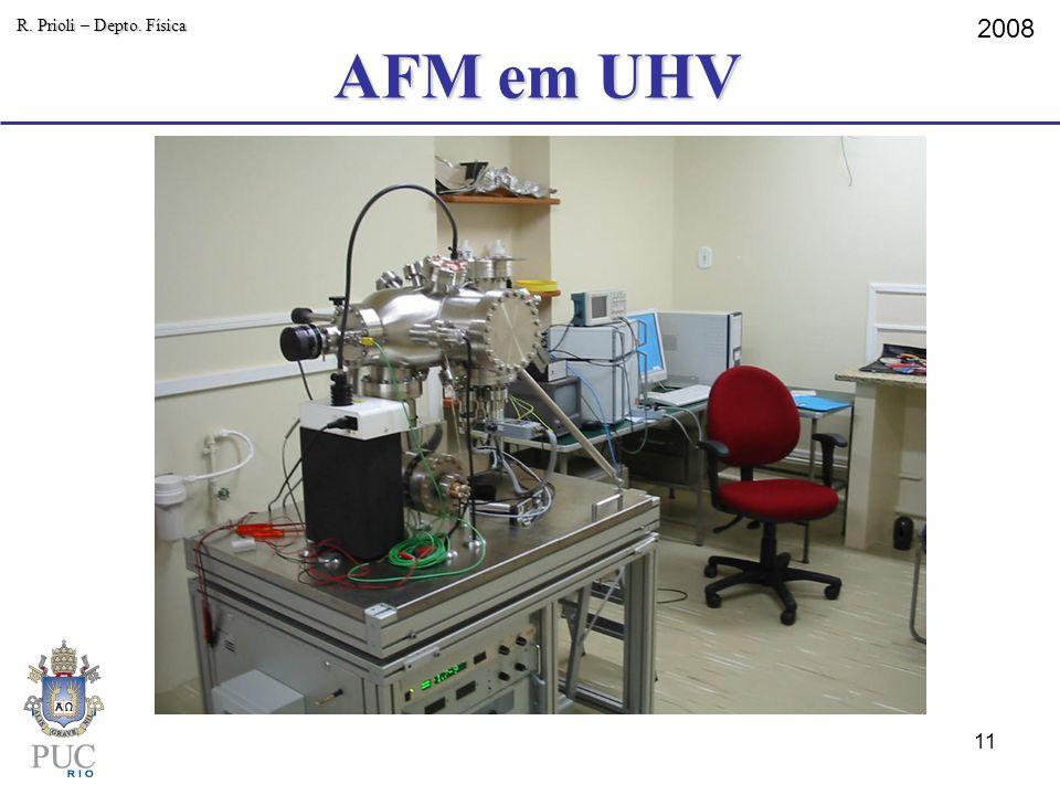 AFM em UHV R. Prioli – Depto. Física 2008