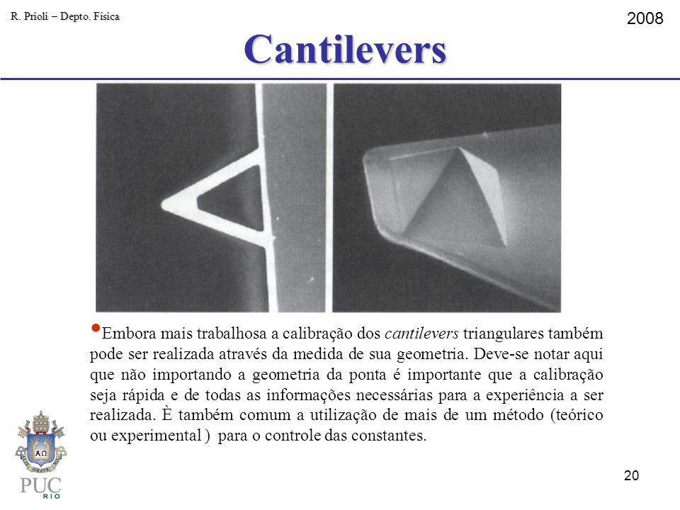 Cantilevers R. Prioli – Depto. Física. 2008.