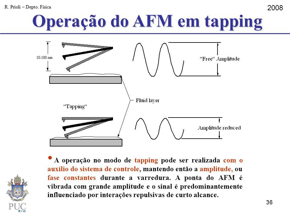 Operação do AFM em tapping