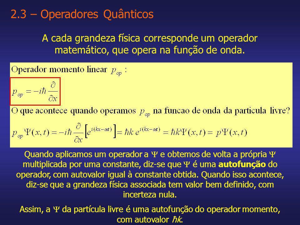 2.3 – Operadores Quânticos