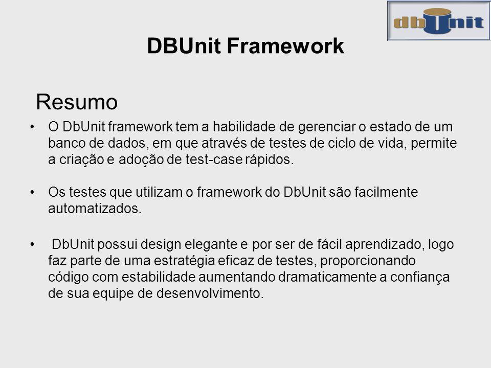 DBUnit Framework Resumo