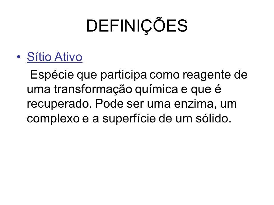 DEFINIÇÕES Sítio Ativo