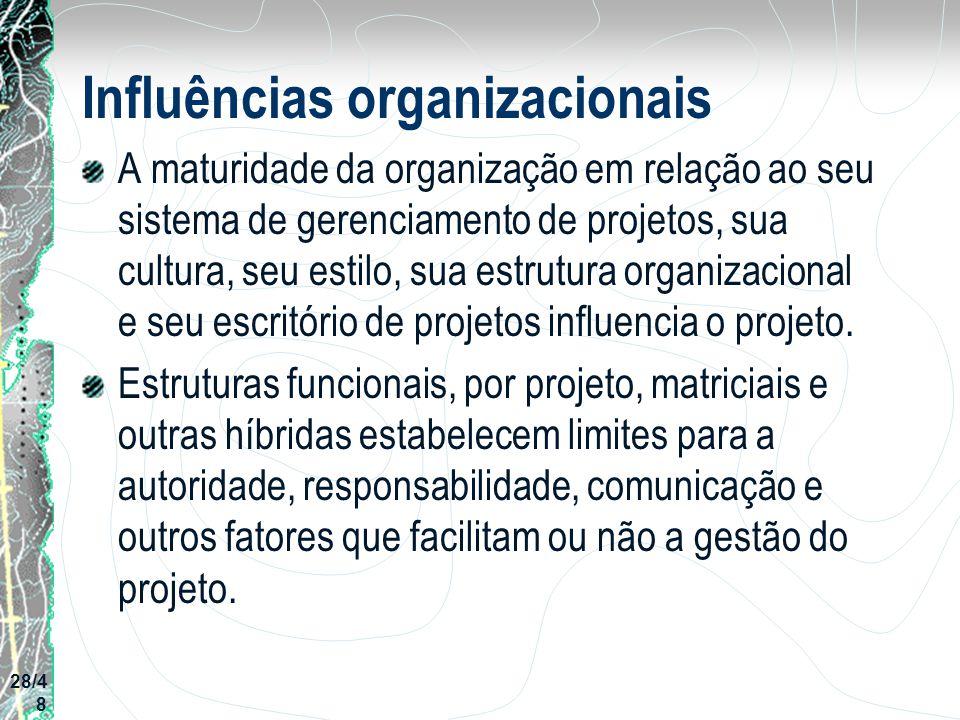Influências organizacionais