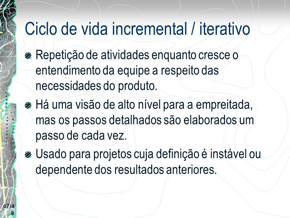 Ciclo de vida incremental / iterativo