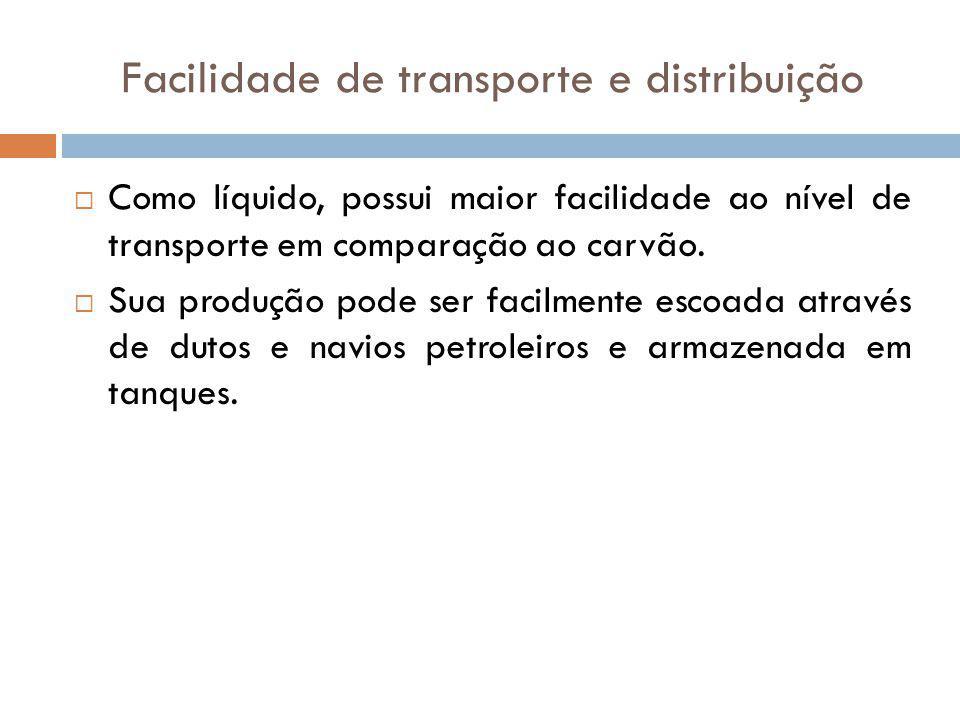 Facilidade de transporte e distribuição