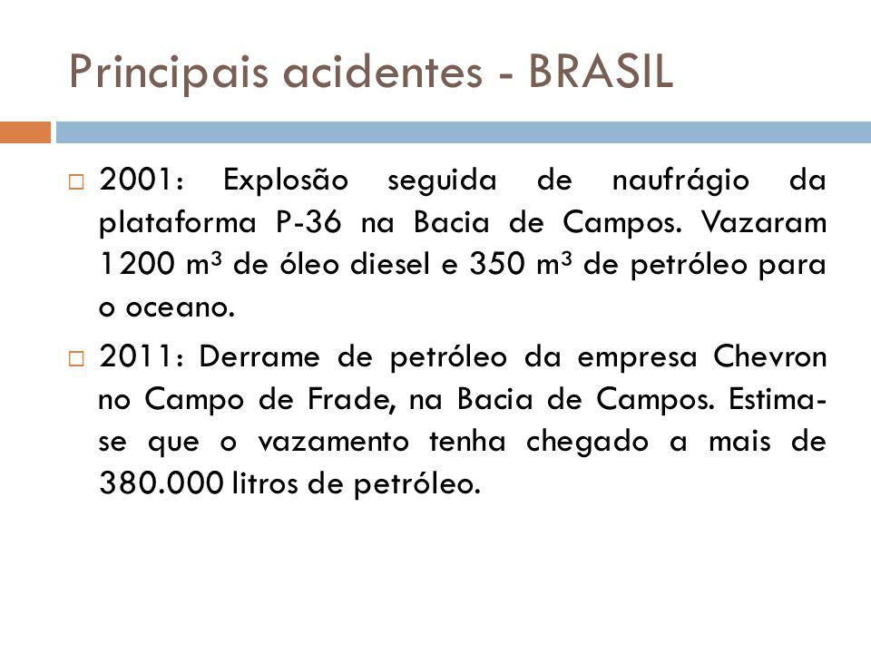 Principais acidentes - BRASIL