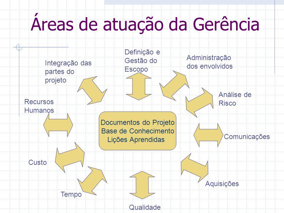 Áreas de atuação da Gerência
