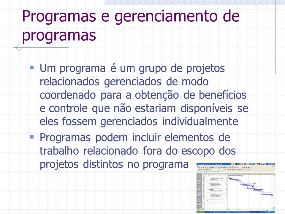 Programas e gerenciamento de programas