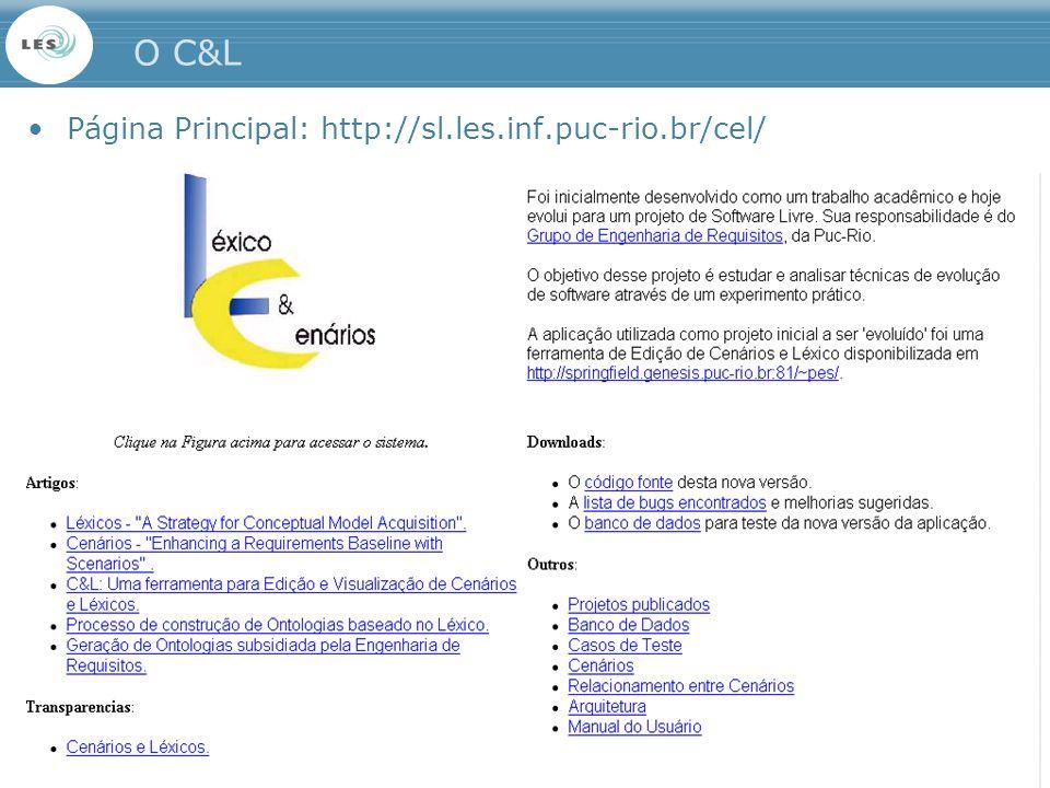 O C&L Página Principal: http://sl.les.inf.puc-rio.br/cel/