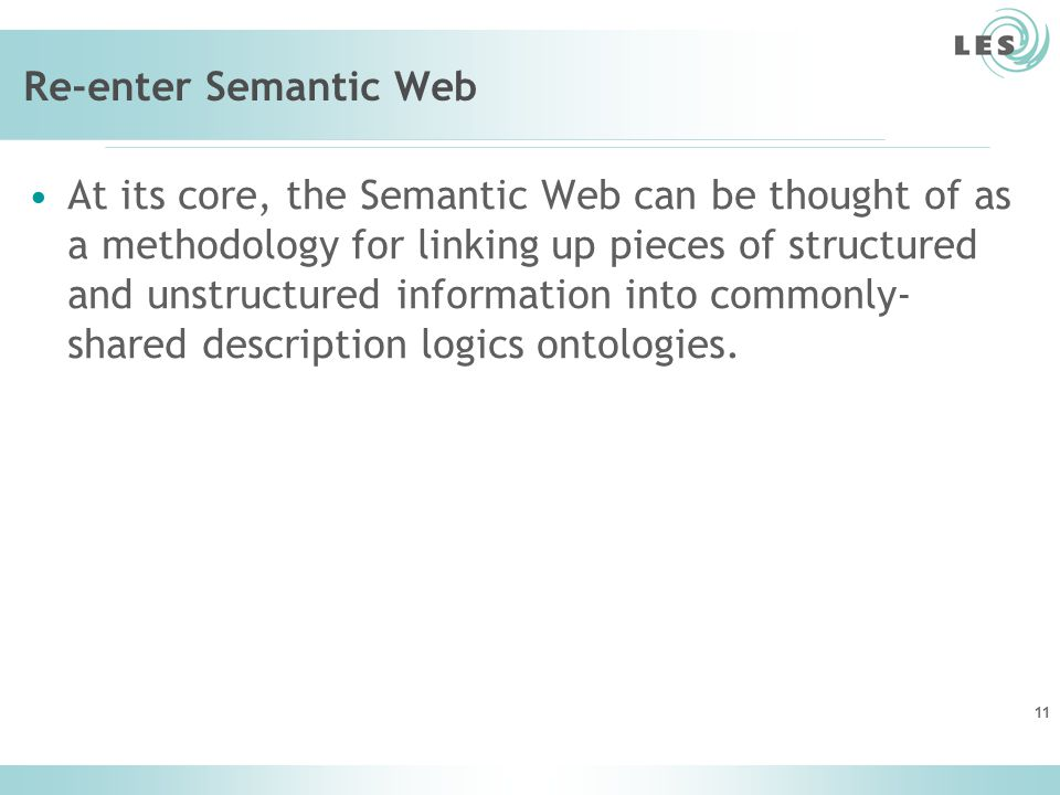 Re-enter Semantic Web