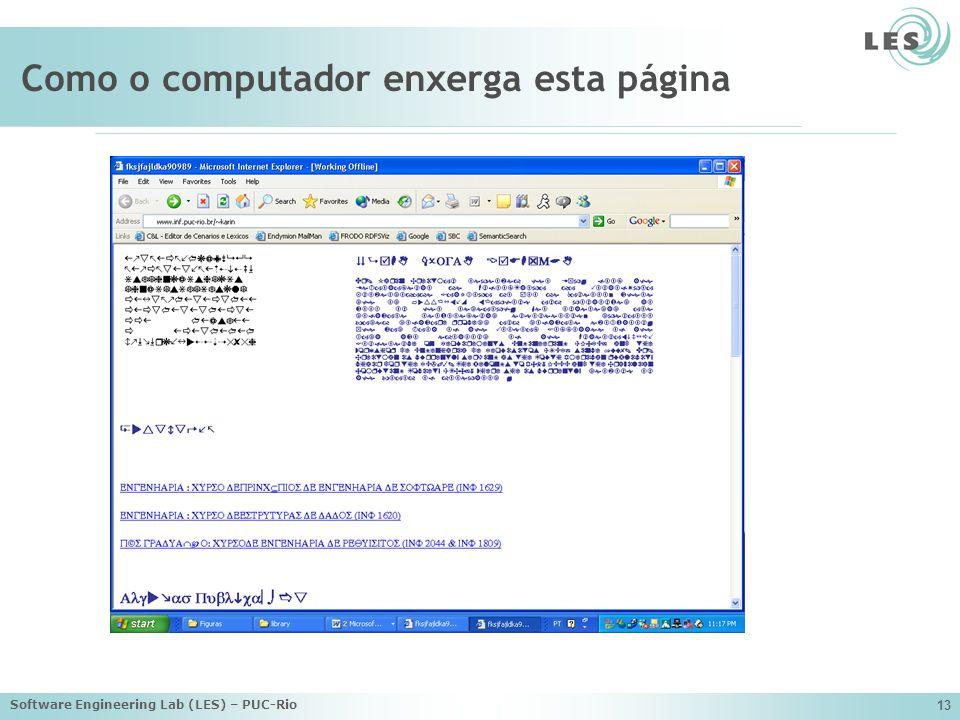 Como o computador enxerga esta página