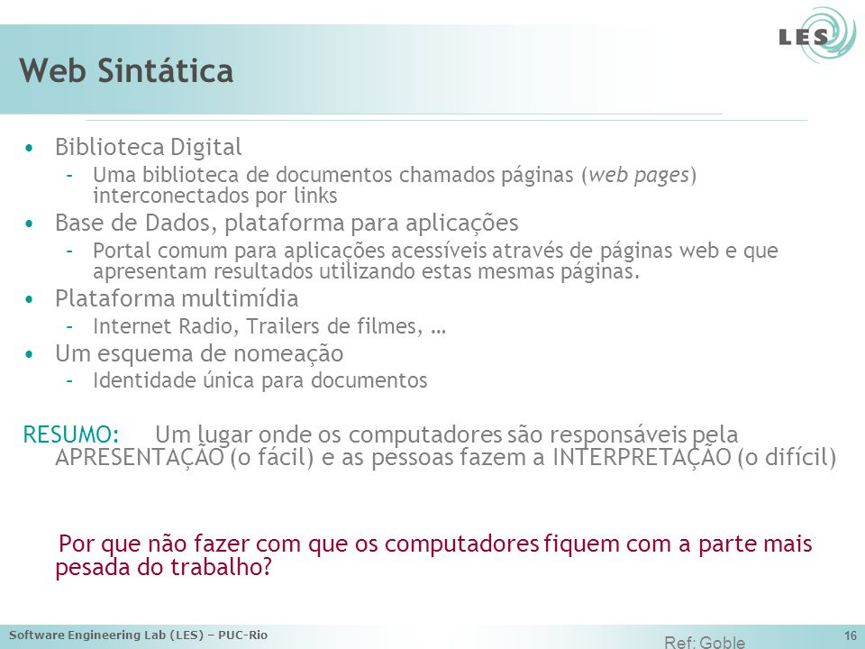 Web Sintática Biblioteca Digital