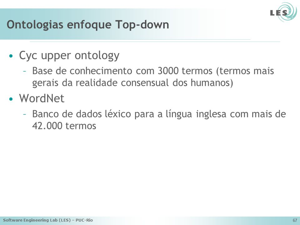 Ontologias enfoque Top-down