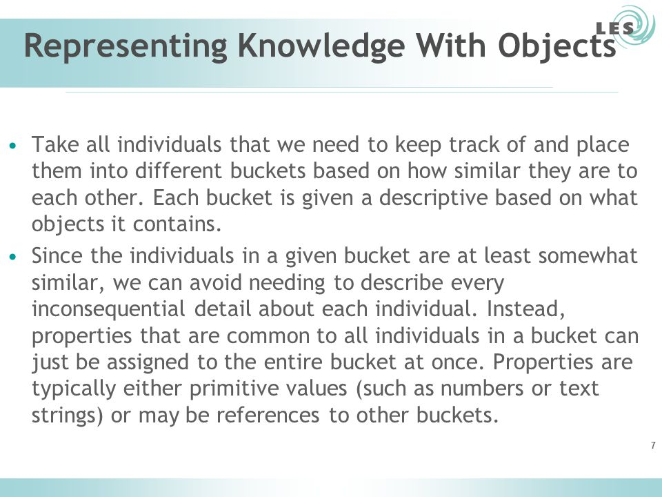 Representing Knowledge With Objects