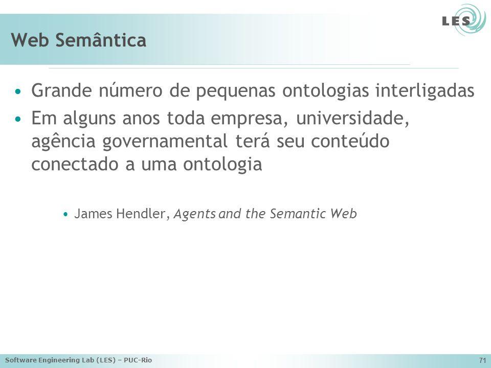 Grande número de pequenas ontologias interligadas