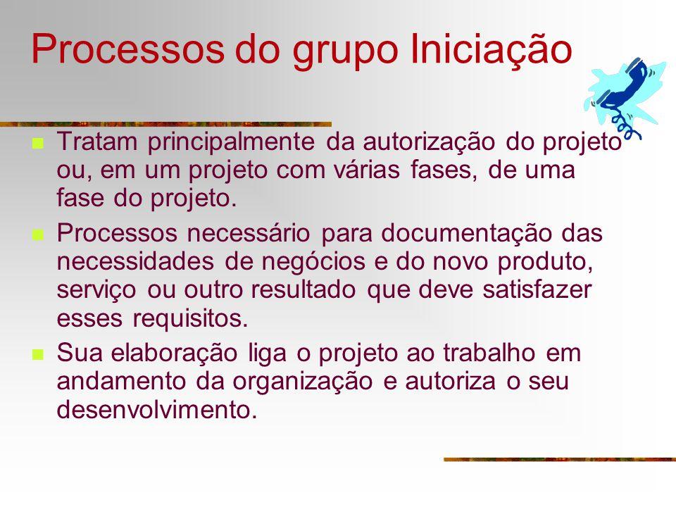 Processos do grupo Iniciação