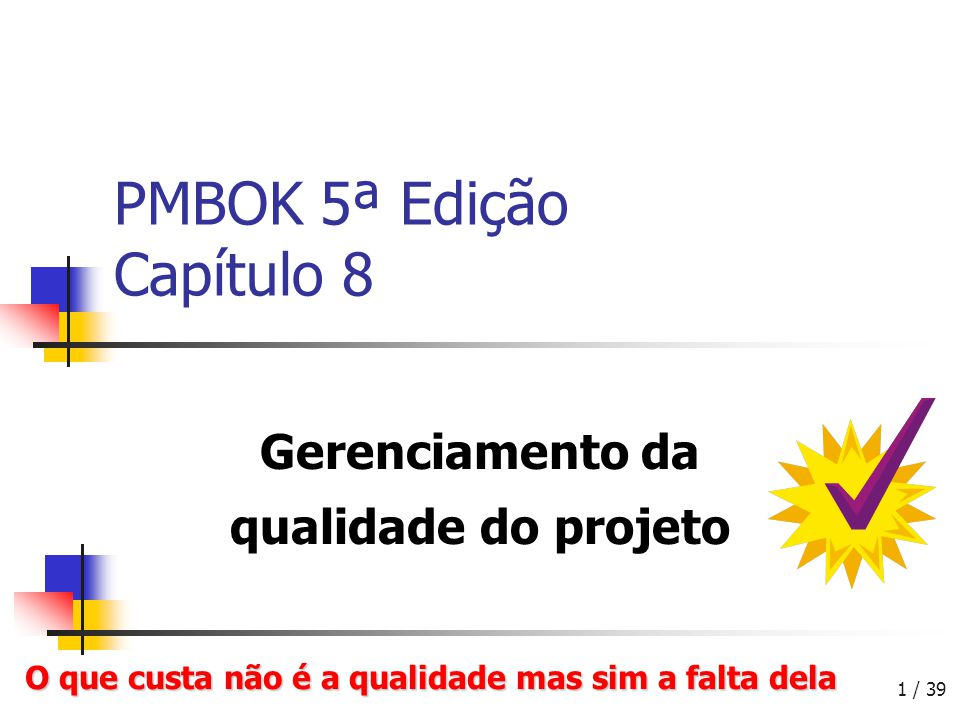 PMBOK 5ª Edição Capítulo 8