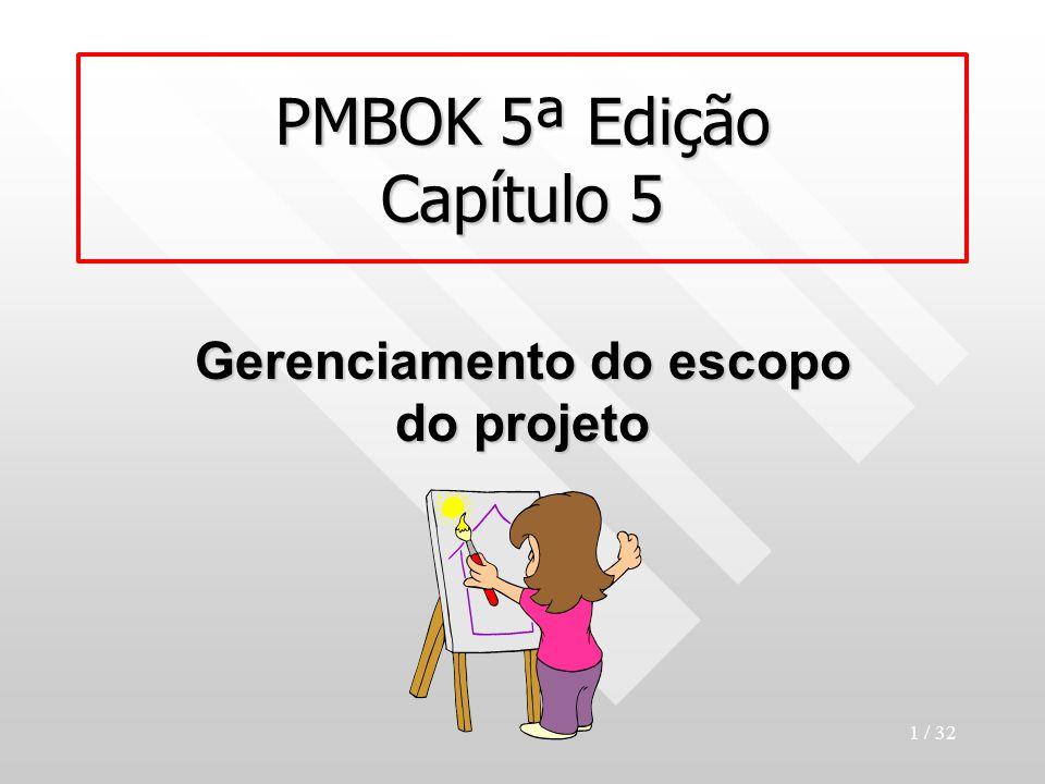 PMBOK 5ª Edição Capítulo 5