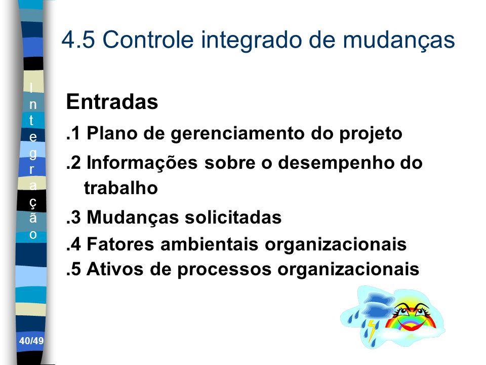 4.5 Controle integrado de mudanças