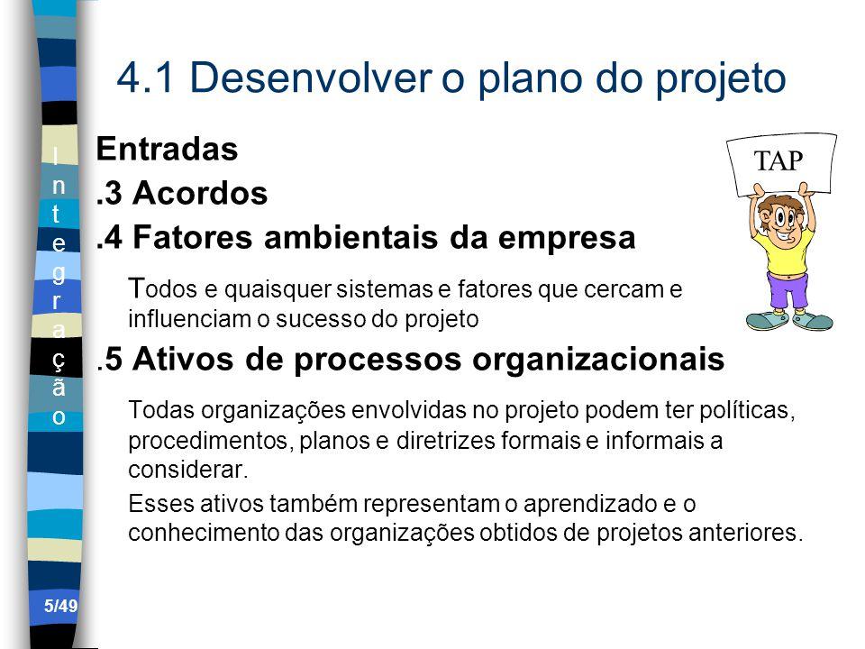4.1 Desenvolver o plano do projeto