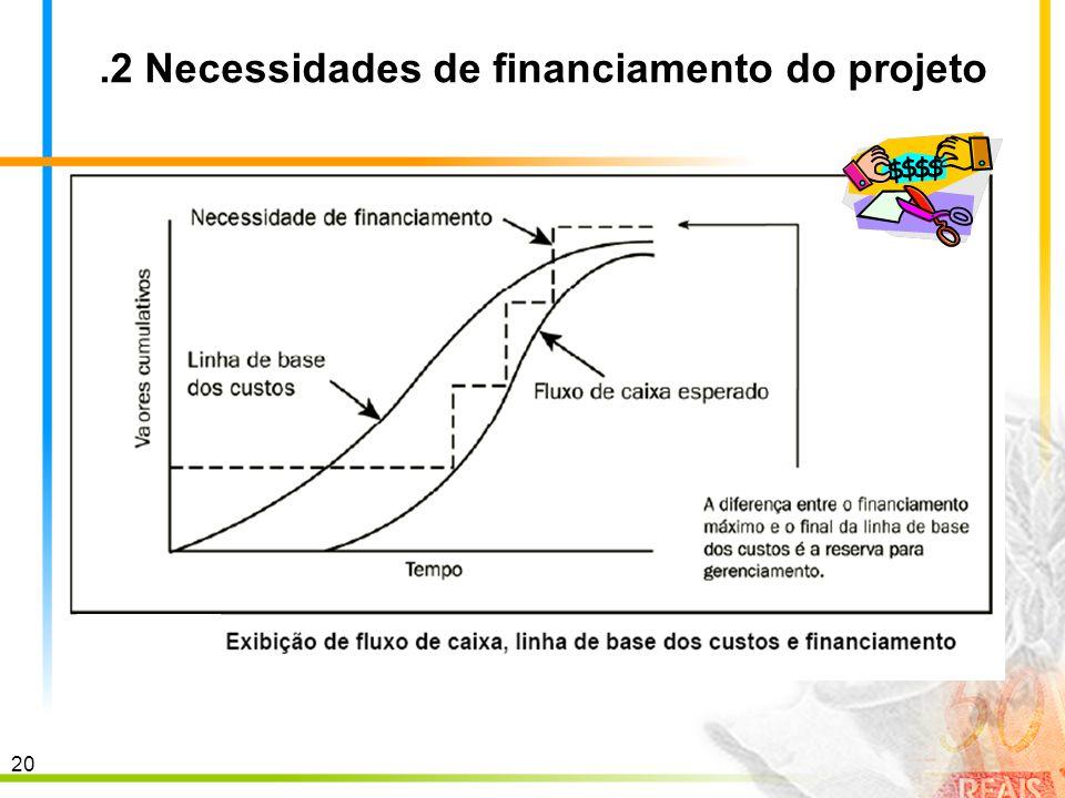 .2 Necessidades de financiamento do projeto