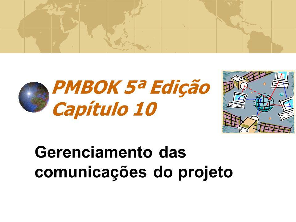 PMBOK 5ª Edição Capítulo 10