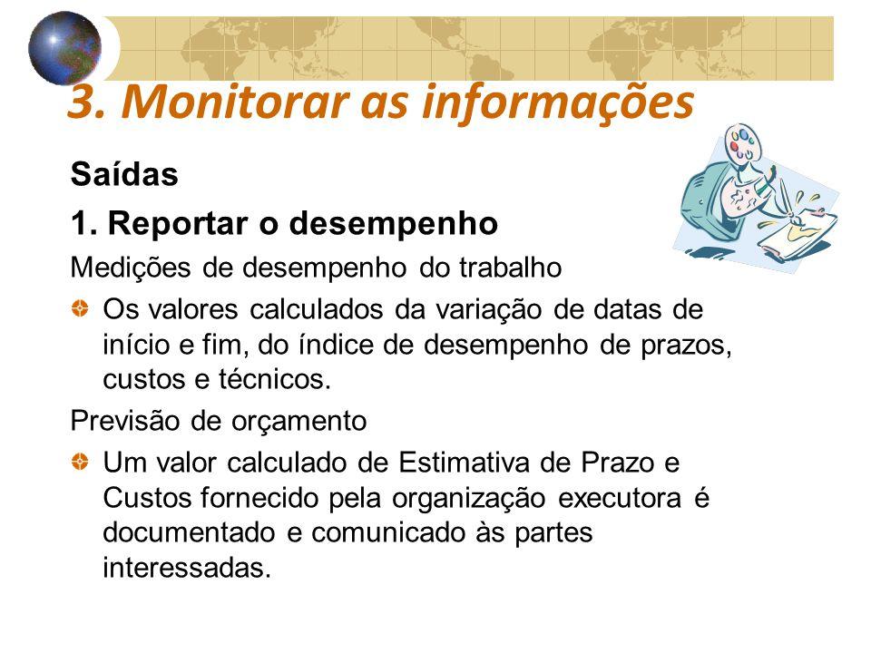 3. Monitorar as informações