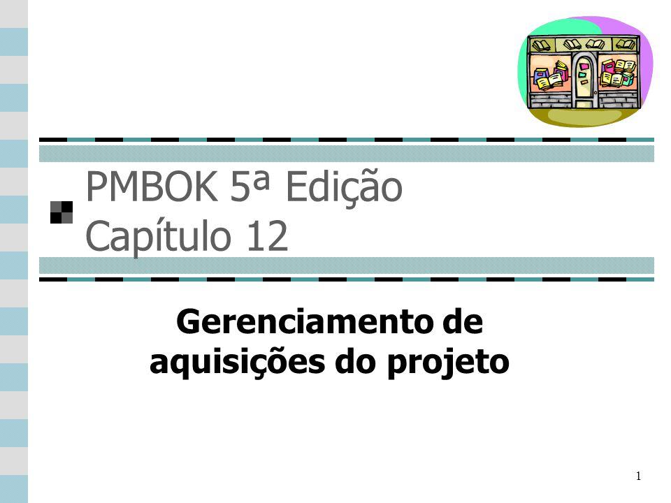 PMBOK 5ª Edição Capítulo 12