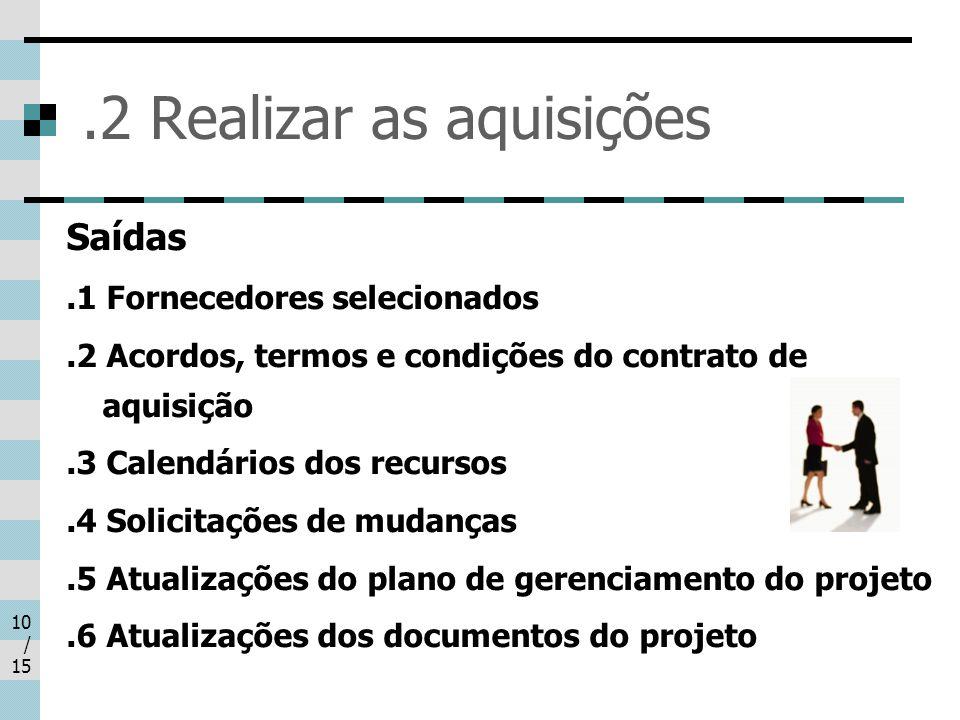 .2 Realizar as aquisições