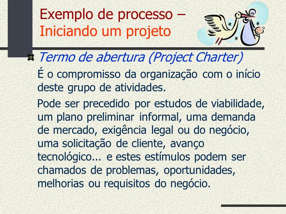 Exemplo de processo – Iniciando um projeto