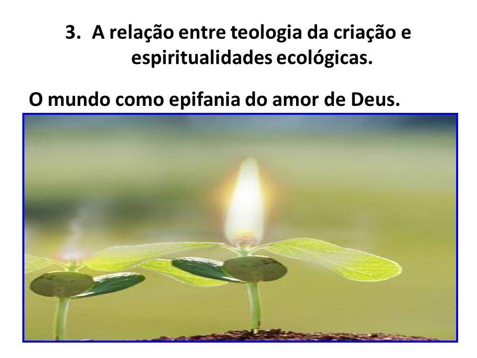 A relação entre teologia da criação e espiritualidades ecológicas.