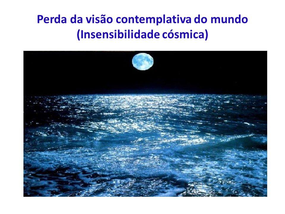 Perda da visão contemplativa do mundo (Insensibilidade cósmica)