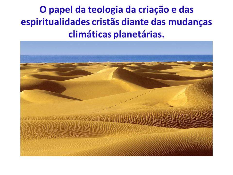 O papel da teologia da criação e das espiritualidades cristãs diante das mudanças climáticas planetárias.