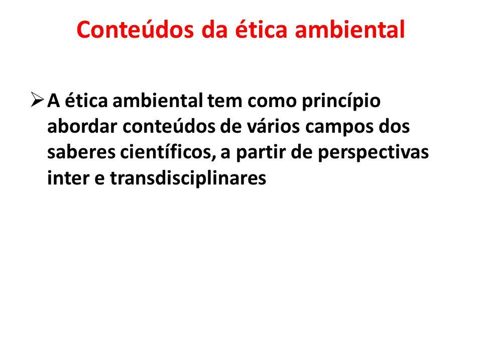 Conteúdos da ética ambiental