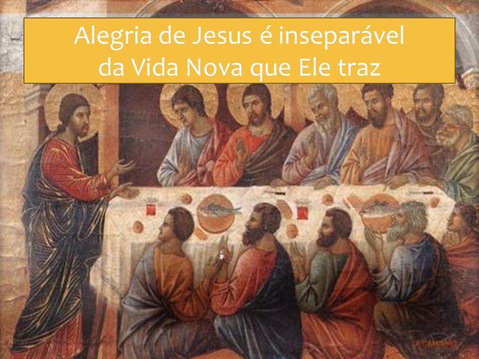 Alegria de Jesus é inseparável da Vida Nova que Ele traz