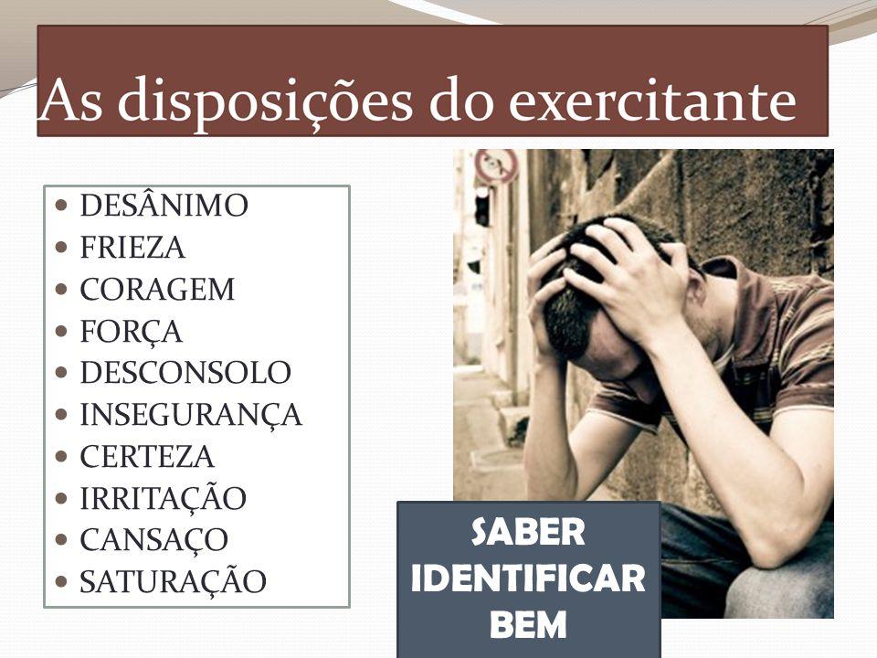SABER IDENTIFICAR BEM DESÂNIMO FRIEZA CORAGEM FORÇA DESCONSOLO