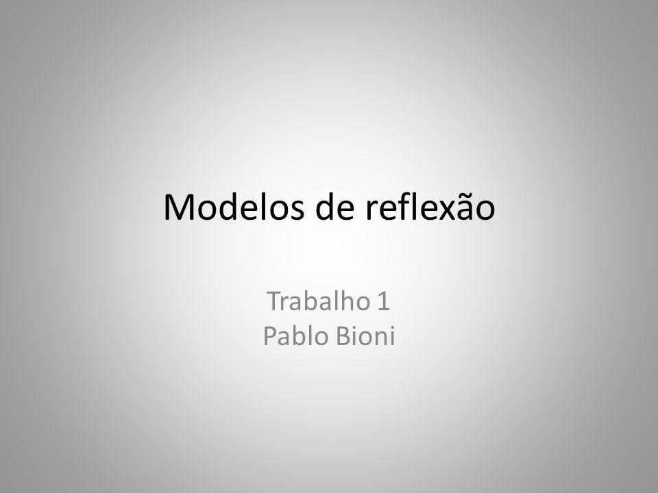 Modelos de reflexão Trabalho 1 Pablo Bioni