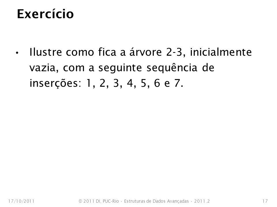 © 2011 DI, PUC-Rio • Estruturas de Dados Avançadas • 2011.2