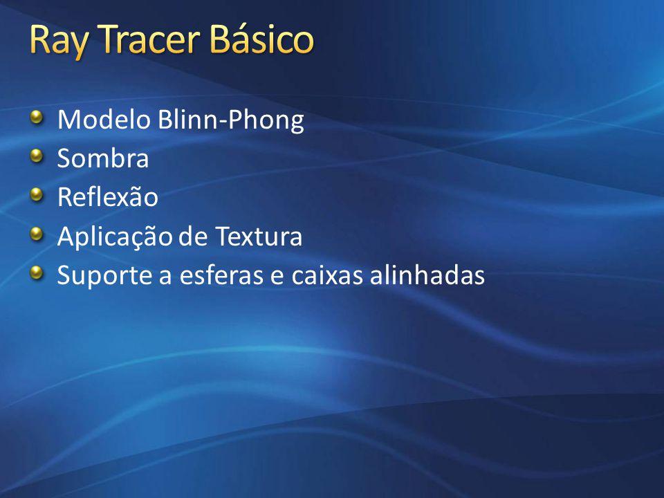 Ray Tracer Básico Modelo Blinn-Phong Sombra Reflexão
