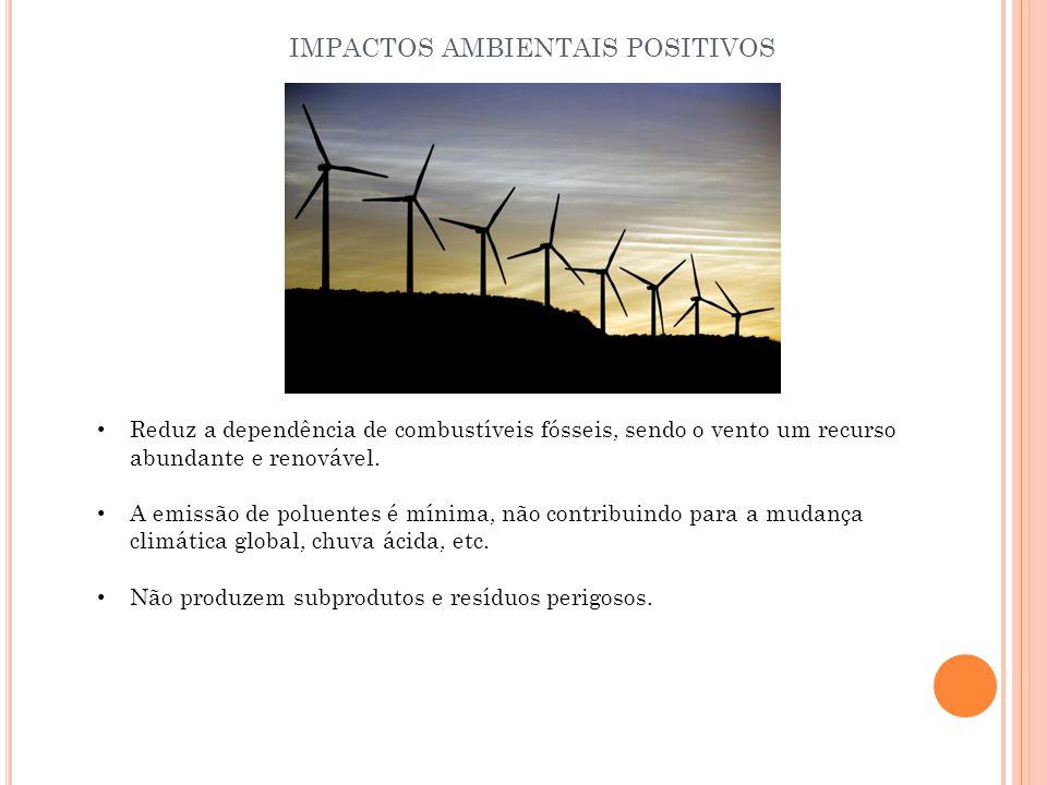 IMPACTOS AMBIENTAIS POSITIVOS