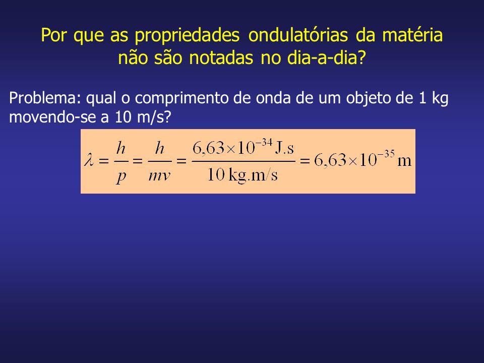 Por que as propriedades ondulatórias da matéria não são notadas no dia-a-dia