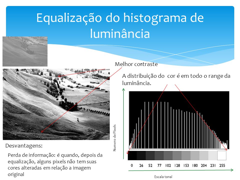 Equalização do histograma de luminância