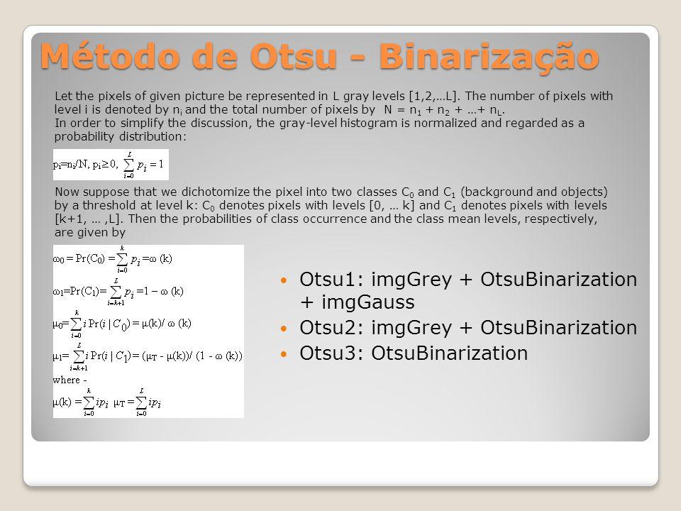 Método de Otsu - Binarização