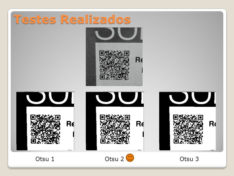 Testes Realizados Otsu 1 Otsu 2 Otsu 3