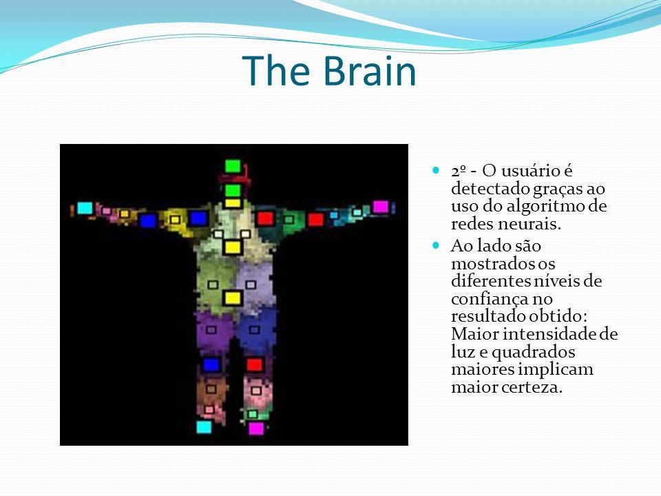 The Brain 2º - O usuário é detectado graças ao uso do algoritmo de redes neurais.